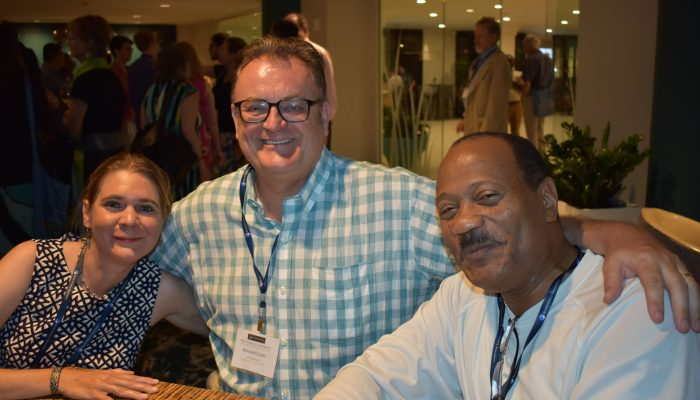 Longtime WHA members catch up at Opening Reception